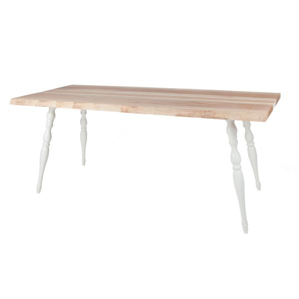 Table en bois style scandinave, made in France signée Blomkål