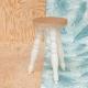 Tabouret sobre et contemporain en bois de bouleau