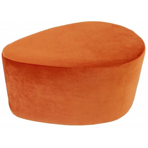 Pouf orange Gaston, une création Blomkal