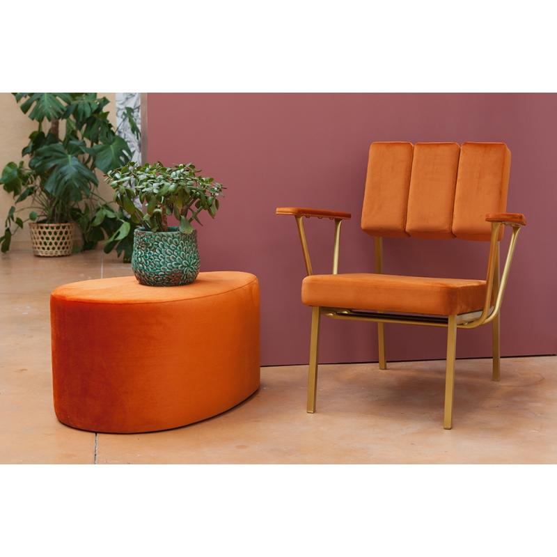 fauteuil design et vintage eileen en velour de chez blomkal. Black Bedroom Furniture Sets. Home Design Ideas