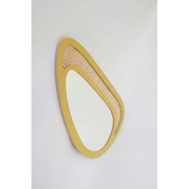 Miroir gustave jaune stratifi blomkal for Miroir jaune