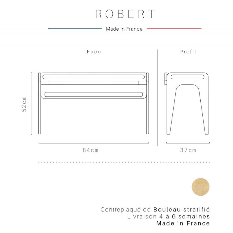 Banc Scandinave Robert Signé Blomkal De La Collection Brutto