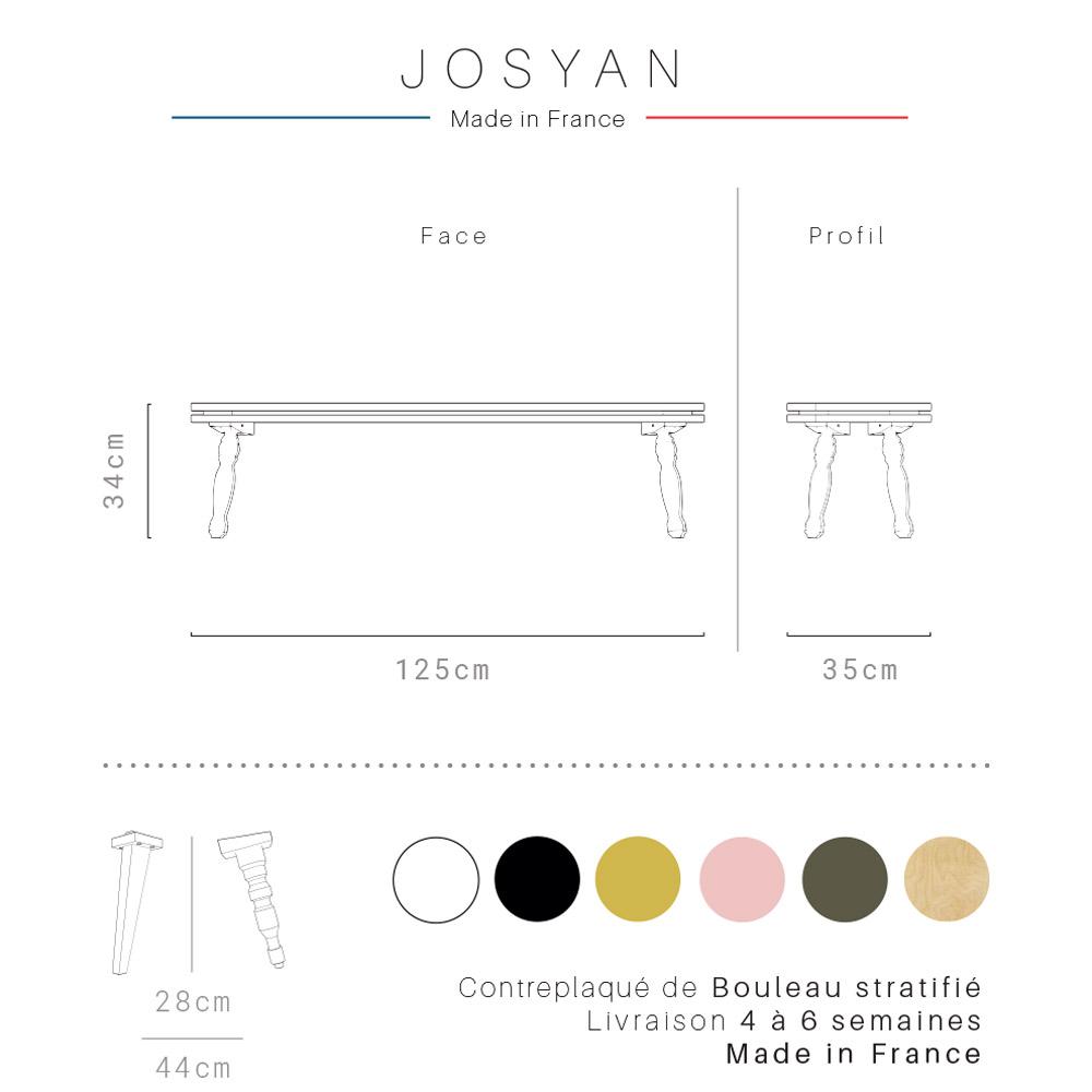 Banc Josyan Personnalisable De Chez Blomkal En Charente